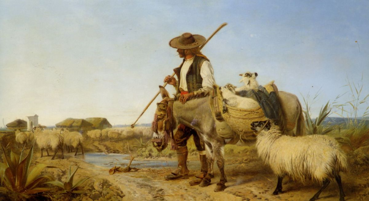 A Spanish Shepherd by Richard Ansdell