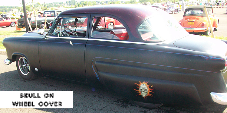 Syracuse Nationals - Black Car with Skull Detail