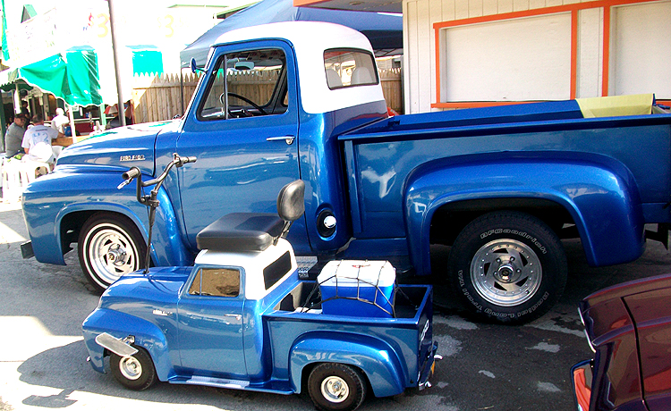 Syracuse Nationals - Blue Truck with Matching Go-Kart