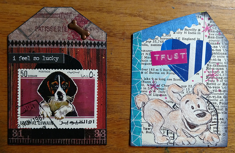 Artist Trading Cards - Dog House Theme