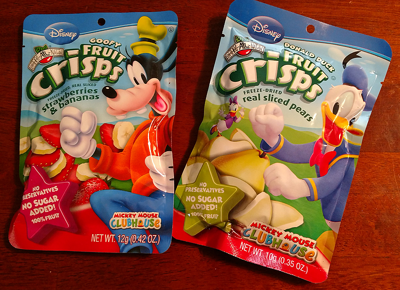 Disney Fruit Crisps from Great Kids Healthy Snacks Box