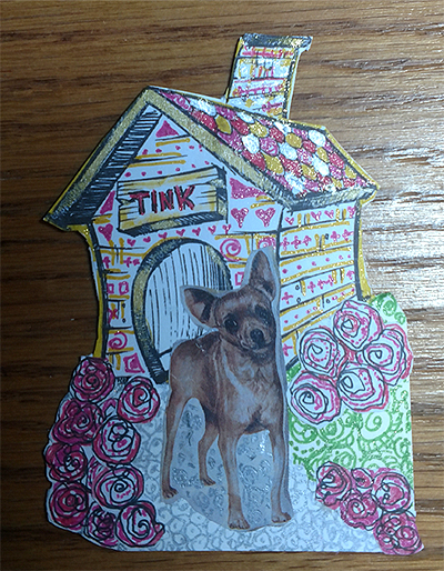 In the Dog House #ATC Art Card Swap - Chihuahua