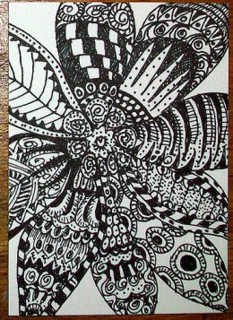 Zentangle Flower Daise