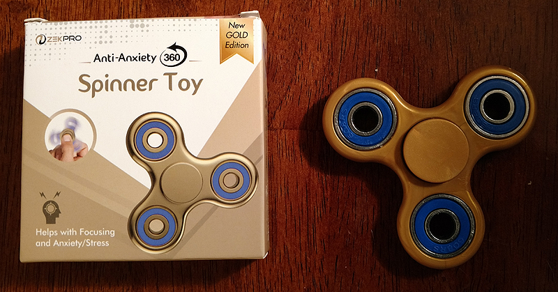 ZekPro Anti Anxiety 360 Spinner Toy - Gold Edition