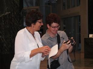 Sam Everitt sharing photos with Jill Walker