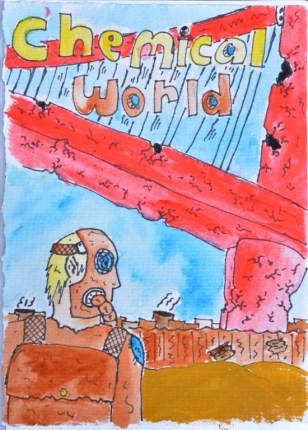 Chemical World Manga Cover by Daniel McLachlan