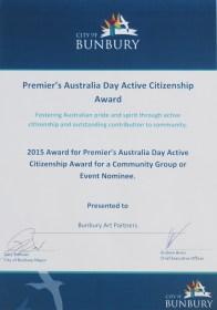 Premier's Australia Day Award nomination