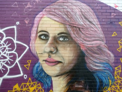 Dee Mosca mural detail 1. Photo by Sam Everitt