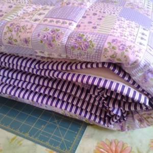 deka z patchworkevej látky detail