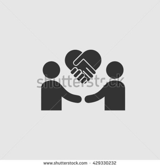 stock-vector-businessman-meeting-vector-icon-handshake-symbol-handshake-with-forming-heart-business-deal-logo-429330232