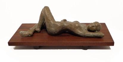"Richards D. Poey 2012 Bronze on walnut 15"" * 7"" * 6"""