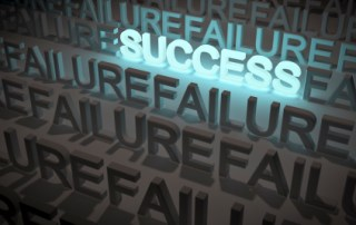 Image with word success in bright lights