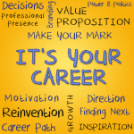 Graphic image with the words, It's Your Career and other related professional development words