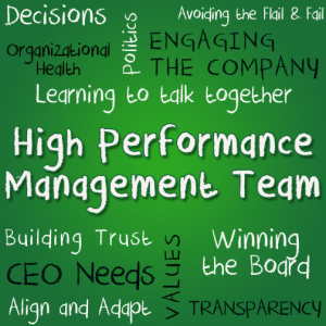 Graphic displaying terms relevant to high performance management