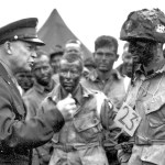 Image of General Eisenhower addressing soldiers