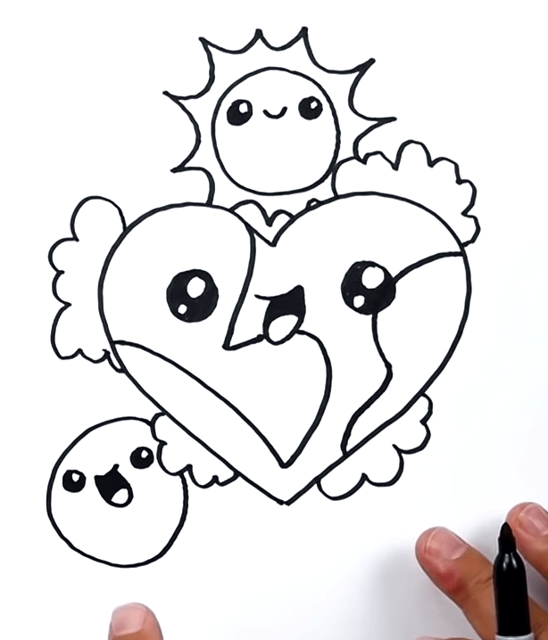 How To Draw The Earth As A Heart 🌎❤️ 7 2 screenshot