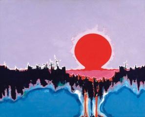 John DePuy. The Last Bomb, 1958. Oil on Canvas; 34 x 42 in.