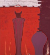 John DePuy. Wolfman Series (Anasazi), 1993. Oil on canvas; 45 x 41 in.