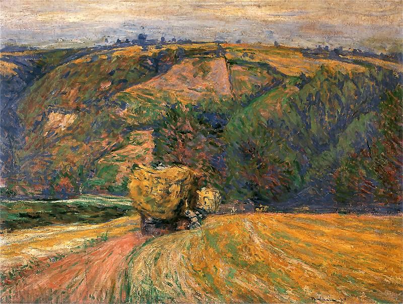 Józef Pankiewicz: Le chariot à foin. 1890.