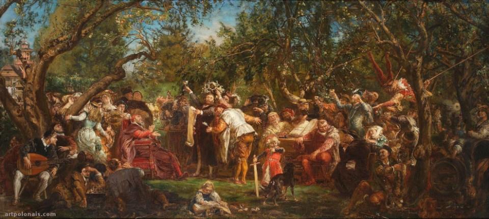Jan Matejko: République de Babin. 1881. Huile sur toile. 96 x 200 cm. Musée National de Varsovie.