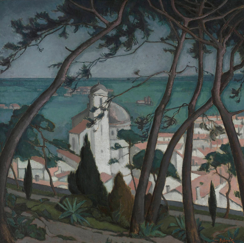 Jan Rubczak: Paysage, France. 1914