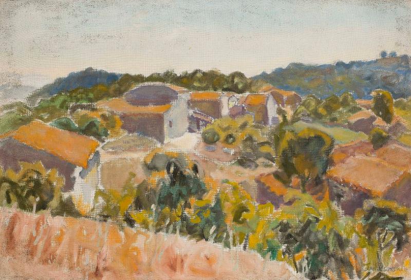 Mieczysław Janikowski: Paysage de Provence. Avant 1976