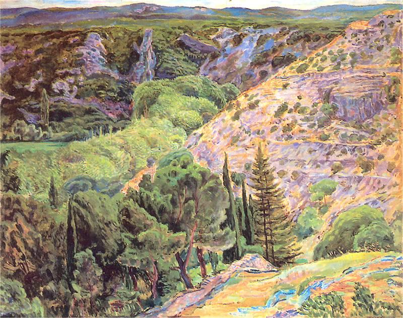 Zygmunt Waliszewski: Paysage vers Les Angles. 1930