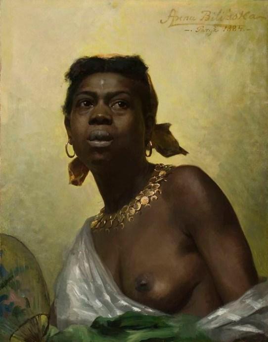 Anna Bilińska-Bohdanowicz: Portrait d'une femme noire. 1884.