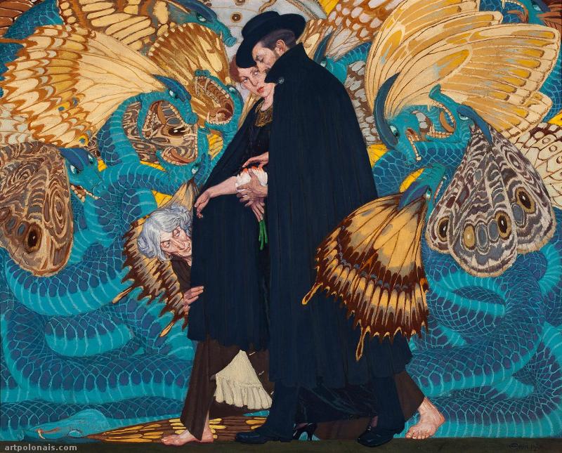 Edward Okuń: La guerre et Nous. 1917 -1923. Huile sur toile. 88 x 111 cm. Musée National de Varsovie.