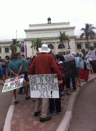 Marchers in front of Ventura City Hall