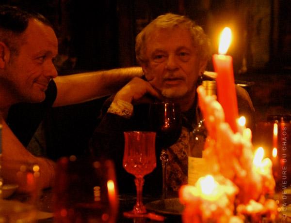 Thierry Ehrmann et Norman Spinrad à la Demeure du Chaos