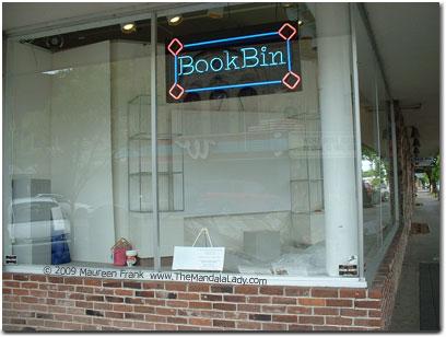 Blank Canvas in Book Bin Window