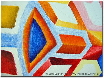 Blue/Orange Triangle and orange 'book'