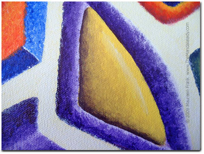 Close up of yellow triangle