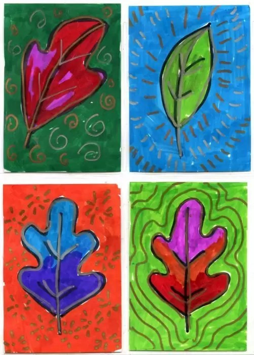 Leaf Art Trading Cards Art Projects For Kids