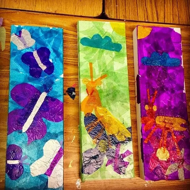 Tissue Paper Collage Boxes Art Projects For Kids
