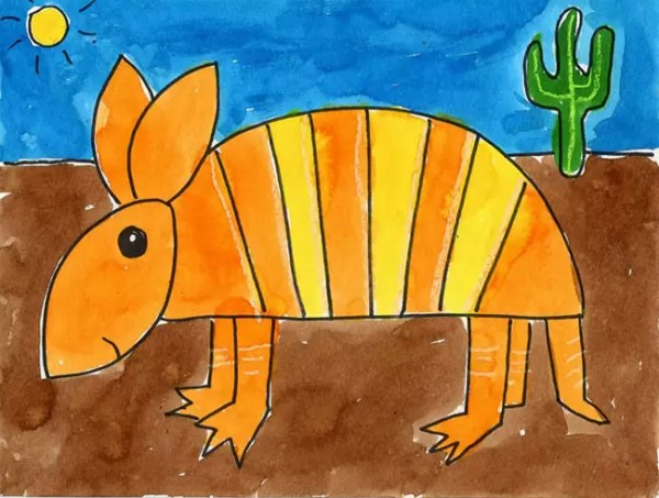 how to draw an armadillo # 29
