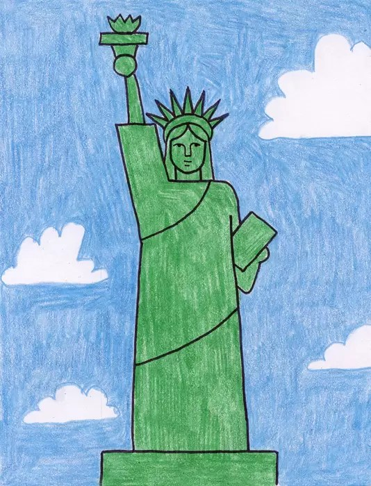 Statue Of Liberty Grades 2 3 Art Projects For Kids