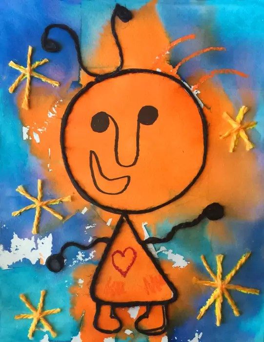 3D Miro Painting Art Projects For Kids