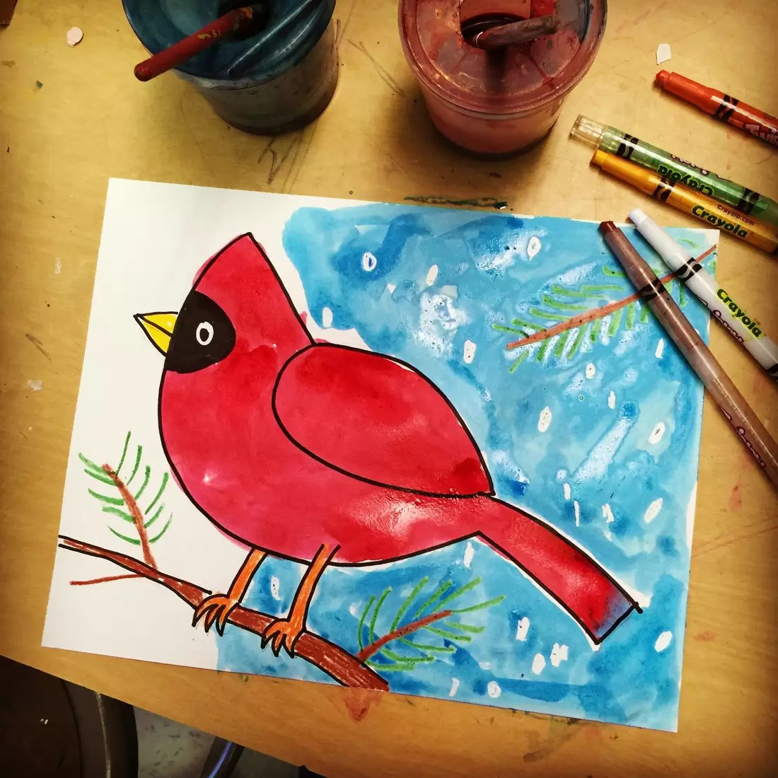 Winter Art Lessons Grade 4