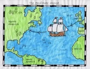 Mayflower Map Color 650