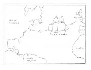 Mayflower Tracing Map