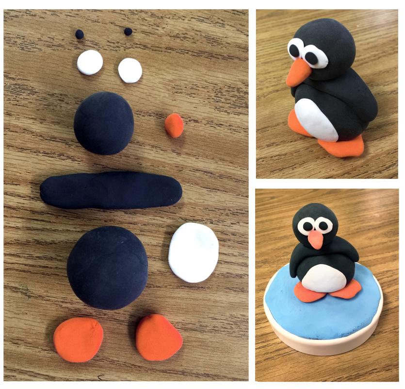 Model Magic Penguin - Art Projects for Kids on Model Ideas  id=67537