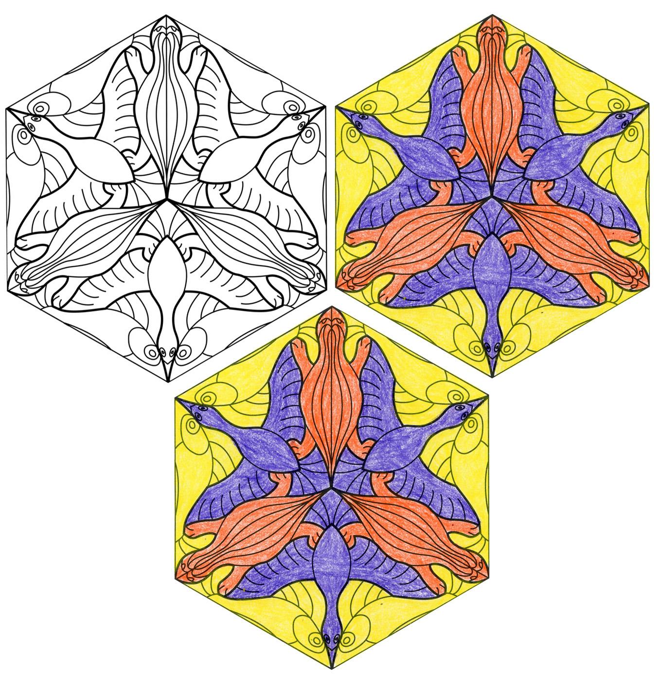 Escher Hexagon Tessellation