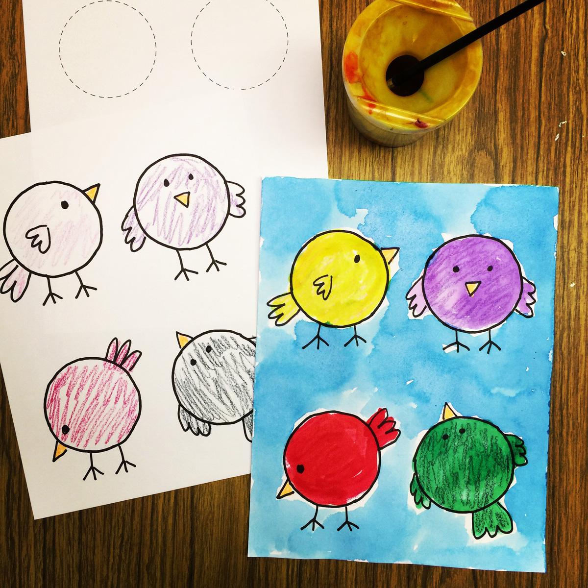 Prek Painting Little Bir S Art Projects For Kids