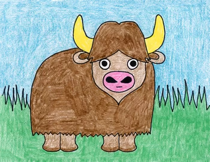 Draw A Water Buffalo Art Projects For Kids