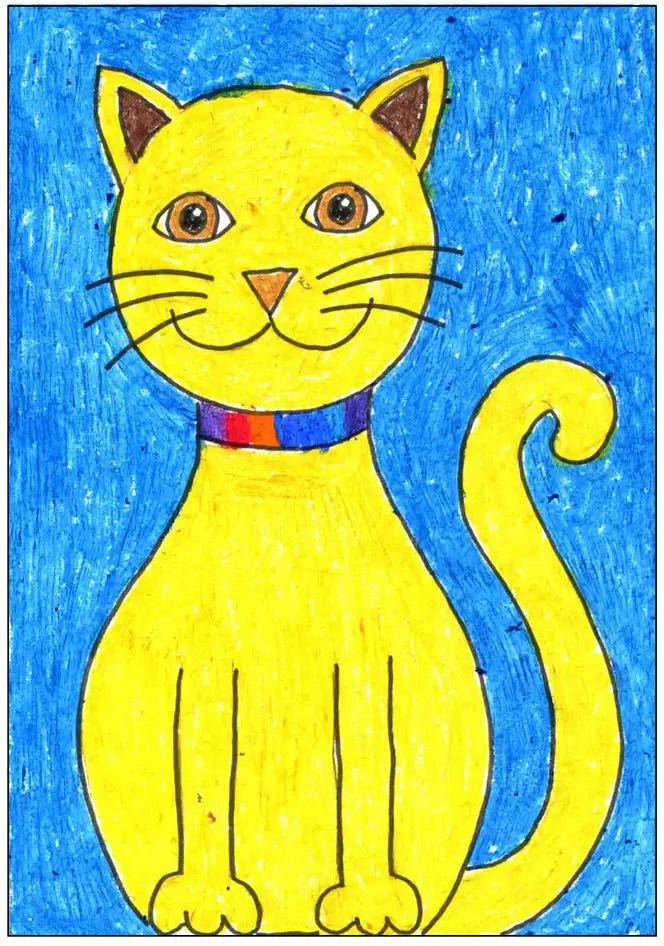 Draw A Simple Cat Art Projects For Kids