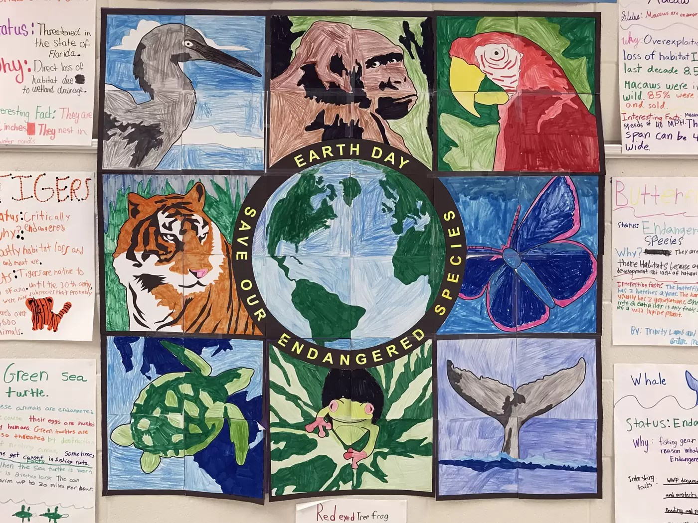 Student Endangered Animals Mural Art Projects For Kids