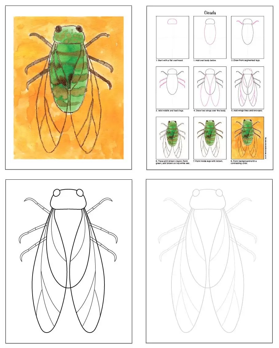 Preview My Insect EBook Art Projects For Kids