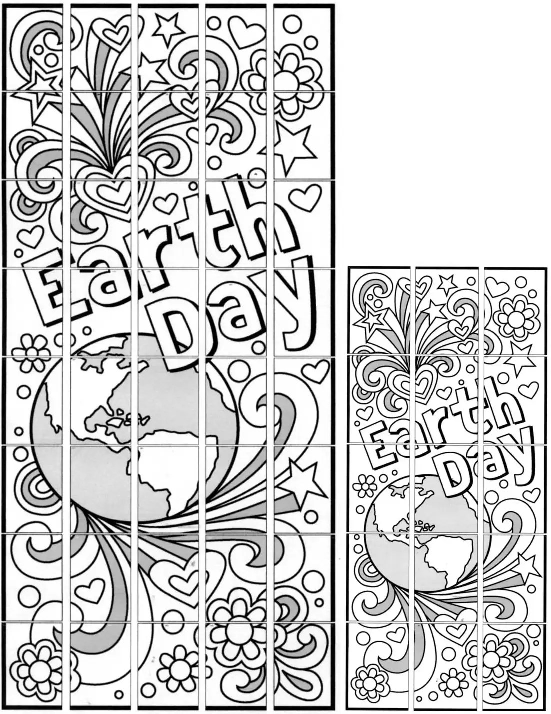 Doodle Earth Day Murals Art Projects For Kids